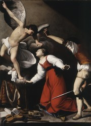 Carlo SARACENI, Le Martyre de sainte Cécile, vers 1610, huile sur toile, Los Angeles County Museum of Art, Gift of the Ahmanson Foundation (AC1996.37.1)